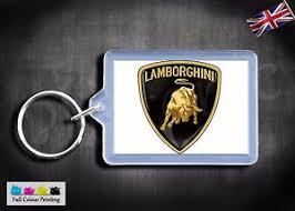 car lamborghini logo lamborghini logo vehicle car badge keyring key fob clip 50x35mm