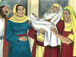 free bible images simeon and anna meet baby jesus and rejoice