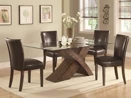 dining room silver metal and glass dining table set also four