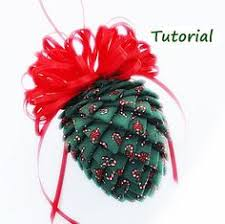 ribbon pinecone ornament tutorial crafts ornament