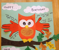 happy birthday card handprint art