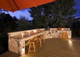 Rustic Outdoor Kitchen Ideas - l shaped outdoor kitchen ideas rustic door ceramic backsplash