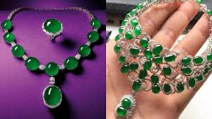 emerald stone necklace jewelry images Latest jade necklace chain designs jade jewelry designs jpg