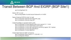 Bgp Route Map by External U2013 Layer3 Use Cases Advertise Bd Subnet Through Ospf Step
