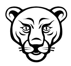 lion face black white line art coloring sheet colouring page