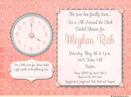 around the clock bridal shower around the clock shower invitation damask vintage theme