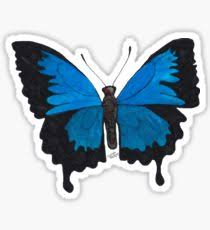 ulysses butterfly stickers redbubble