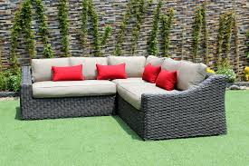 Outdoor Patio Furniture Edmonton Marseille Outdoor Patio Wicker Sunbrella Corner Sectional Sofa By