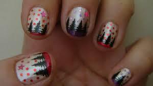 stamping u0026 glitters christmas tree nail art design 1 2013