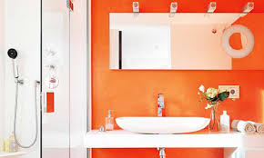 orange bathroom ideas decor and accessories burnt chocolate and