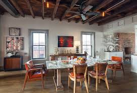ceiling fan for dining room contemporary dining room with hardwood floors by the corcoran group