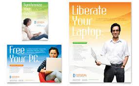 computer u0026 it services flyer u0026 ad template word u0026 publisher