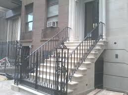 traditional ornamental iron railing and gate new york stoop