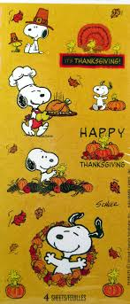 thanksgiving peanuts stickers happy thanksgiving