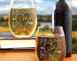 his and hers glassware his and hers gifts etsy
