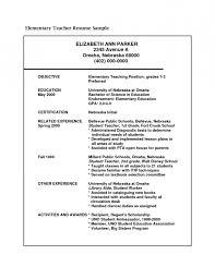 career objective on resume for teacher resume template example