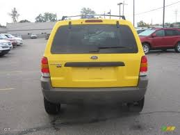 Ford Escape Yellow - 2001 chrome yellow metallic ford escape xlt v6 54577627 photo 7
