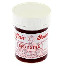 sugarflair red extra max concentrated paste gel icing food