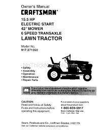 craftsman 917 27105 lawn mower user manual download as pdf