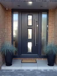 Black Front Door Ideas Pictures Remodel And Decor by Best 25 Grey Front Doors Ideas On Pinterest Grey Composite