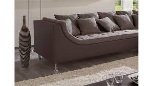 r ckenkissen f r sofa mit ottomane delife 290x205 grau strukturstoff