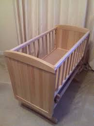 mothercare deluxe gliding crib natural wood finish in barnton