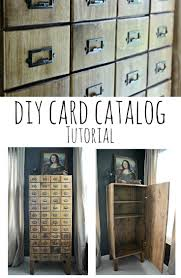 Learn To Build Cabinets Diy Card Catalog Cabinet Tutorial U2014 Decor And The Dog