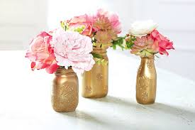 Mason Jar Floral Centerpieces Diy Valentine U0027s Day Milk Jar Floral Centerpiece The Glue String