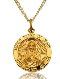 heart gold necklace diamonds images 14k yellow gold filled sacred heart of jesus medal jpg