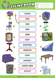 living room esl printable worksheets kids 1