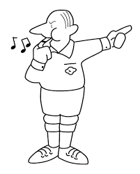 referee football coloring page sports pinterest referee