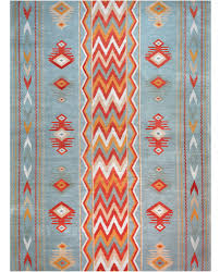 Orange And White Rugs Lw53a Gray Blue Red David E Adler Inc Fine Rugs