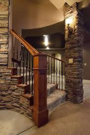 Open Staircase Ideas Innovative Basement Stairs Finishing Ideas Finish The In Stairway