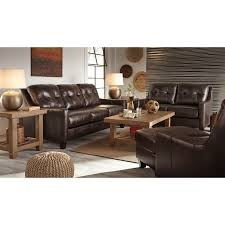 Leather Sofa Sleepers Contemporary Leather Match Queen Sofa Sleeper By Signature Design