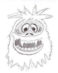 abominable snowman coloring pages getcoloringpages com