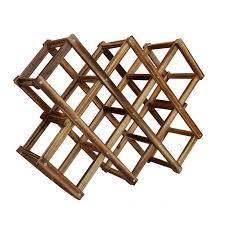 aliexpress com buy 1pcs wood wine holder 10 bottles wood folding