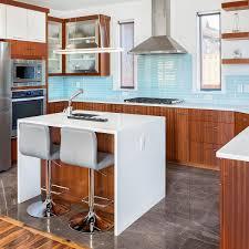 what backsplash goes with light wood cabinets 75 blue backsplash ideas navy aqua royal or coastal