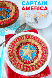 captain america cakes brown butter captain america shield m m chocolate chip cookie cake