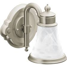bathroom light fixture brushed nickel
