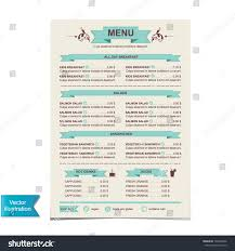 sle menu design templates sle cafe menu template