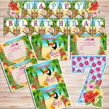 luau party supplies luau party diy kit digital files by partykidshop