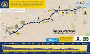 Sf Marathon Map Boston Marathon 2016 Route Information Course Map Road Closures
