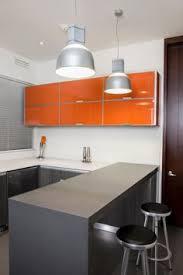 Orange Kitchen Cabinets Stylish Orange Kitchen Designs For A Lighter Look Clean Modern