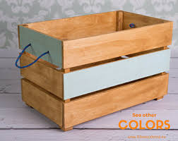 wooden toy chest etsy