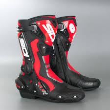 high heel motorcycle boots sidi st mc boot black red now 12 savings xlmoto