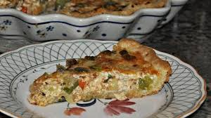 garden vegetable quiche with a cream cheese crust recipe genius