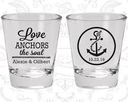Love Anchors The Soul Nautical - custom shot glasses wedding shot glasses love anchor the soul