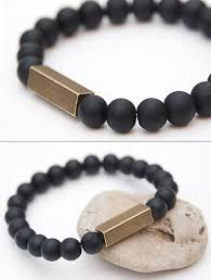 mens bracelet black beads images Bead bracelets for men jpg