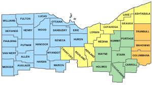 map of counties in ohio counties served by division