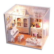 Dolls House Furniture Diy Amazon Com Flever Dollhouse Miniature Diy House Kit Creative Room